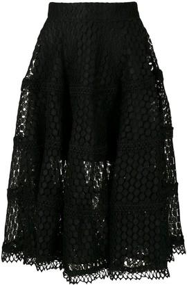 Olympiah Lamier lace midi skirt