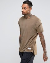 Criminal Damage T-shirt With Layered Sleeves
