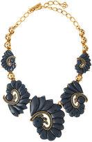 Oscar de la Renta Resin Swirl & Crystal Necklace, Navy