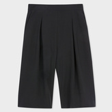 Paul Smith Women's Black Textured-Wool Culottes