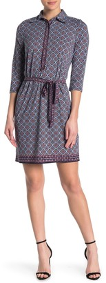 Max Studio 3/4 Length Sleeve Shirt Dress