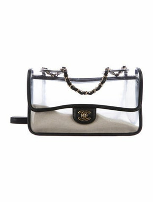 Chanel Coco Sand PVC Flap Bag Clear