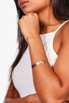 Boohoo Maya Engraved Feather Cuff