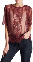 Jolt Sheer Lace Tee