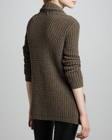Autumn Cashmere Textured Draped Cardigan