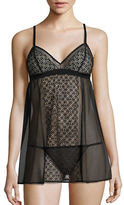 DKNY Mesh Chemise and Thong Set