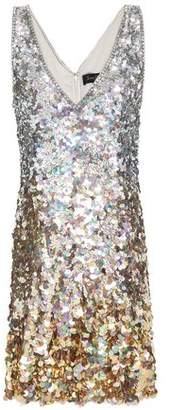 Jenny Packham Embellished Sequined Degrade Tulle Mini Dress