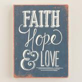Cost Plus World Market Deconstructed Faith, Hope and Love Journal