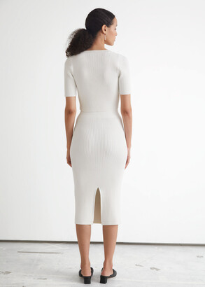 And other stories Ribbed Midi Pencil Skirt