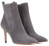 Gianvito Rossi Bennett Mid Suede Ankle Boots