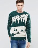 Bellfield Holidays Snow Scene Jacquard Sweater