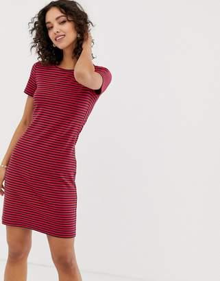 Vero Moda striped fitted t-shirt mini dress-Multi