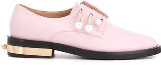 Coliac Rhinestone-Embellished Low-Heel Loafers