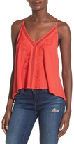 Astr Embroidered Tie Back Tank