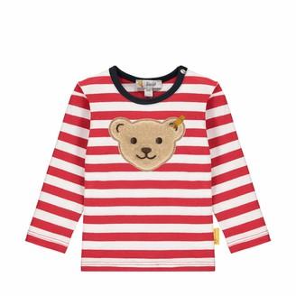 Steiff Baby Boys' Mit Suer teddybarapplikation Long-Sleeved T-Shirt