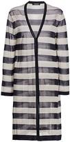 Max Mara Taverna Fine Cotton Striped Cardigan