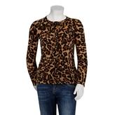 Gucci Girls Jaguar Print Merino Wool Cardigan