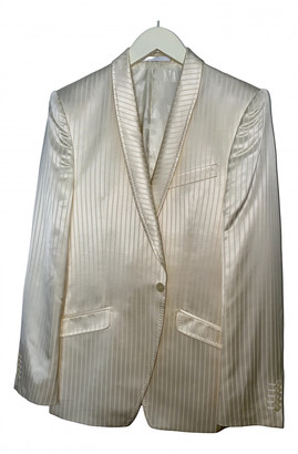 Versace Beige Wool Jackets
