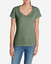 Eddie Bauer Women's Essential Slub Short-Sleeve V-Neck T-Shirt