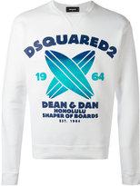 DSQUARED2 surf print sweatshirt - men - Cotton - XL
