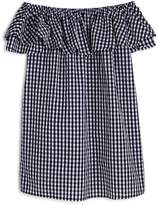 Aqua Girls' Off-the-Shoulder Flutter Dress, Big Kid - 100% Exclusive