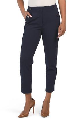 Side Button Straight Leg Pants