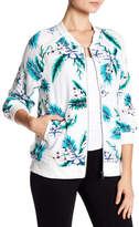 Cupcakes And Cashmere Anjelica Floral Print Bomber Jacket