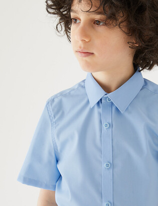 Marks and Spencer 3pk Boys' Slim Easy Iron School Shirts
