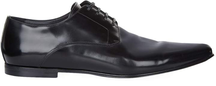 Dolce & Gabbana Leather Pointed Derby Shoes