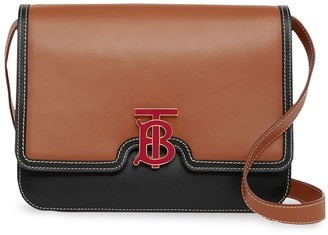 Burberry Medium Two-tone Leather TB Bag