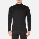 Hugo San Gottardo Quarter Zip Jumper Black