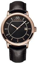 88 Rue du Rhone Men's Leather Strap Watch