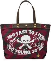 Vivienne Westwood Anglomania Too Fast To Live Shopper Maroon