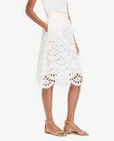 Ann Taylor Petite Scallop Eyelet Full Skirt
