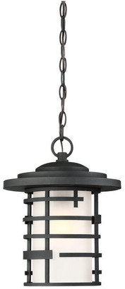 Nuvo Lighting Lansing 1 Light Outdoor Hanging Lantern With Etched Glass