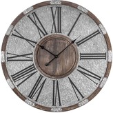3.1 Phillip Lim E2 Wood and Metal Oversized Vintage Wall Clock