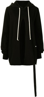 Rick Owens Slit Front Relaxed Hoodie