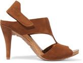 Pedro Garcia Yuri Cutout Suede Sandals - Tan