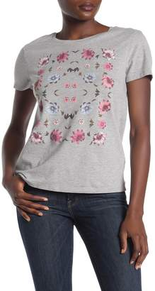 Lucky Brand Flowers Heathered Graphic T-Shirt