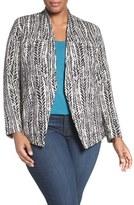 Nic+Zoe Plus Size Women's 'On The Line' Knit Jacket