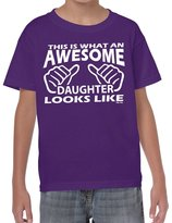 StarliteFunnyShirts Starlite~Kids Funny T Shirts-Awesome Daughter Looks Like tshirt