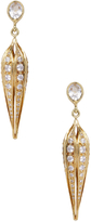 Ila Women's Sienna 14K Yellow Gold, White Sapphire & 3.40 Total Ct. Diamond Lantern Earrings
