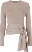3.1 Phillip Lim Lurex Waist Tie Sweater