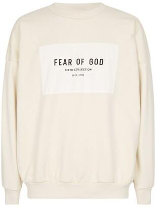 Fear Of God Oversized Logo Sweatshirt
