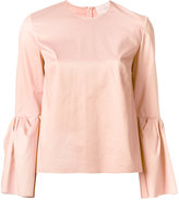 Roksanda peplum sleeve top - women - Cotton/Spandex/Elastane - 6
