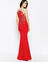 Forever Unique Lorelle Maxi Dress With Off Shoulder Embellishment And Lace Back
