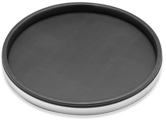 "Bed Bath & Beyond KraftWare™ Sophisticates Deluxe 14"" Serving Tray - Polished Chrome Trim"