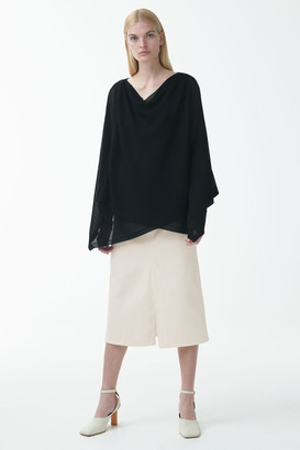 Cos Draped Knitted Cardigan