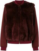 Yves Salomon rabbit fur bomber jacket