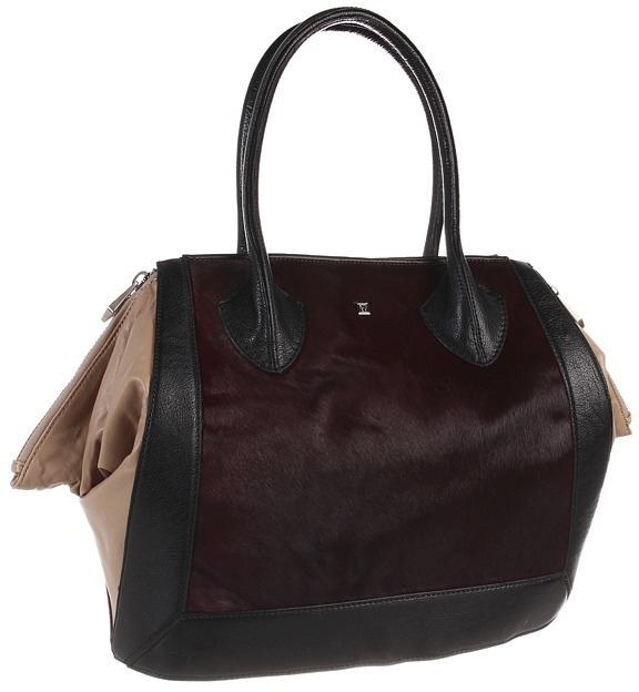 Pour La Victoire Maison Haircalf Medium Tote (Oxblood/Natural) - Bags and Luggage
